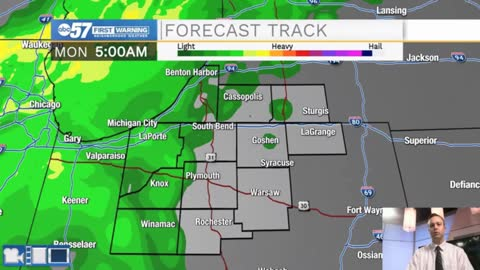 Scattered showers expected tonight